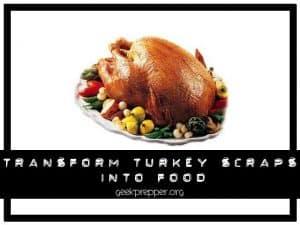 transform turkey scraps into food